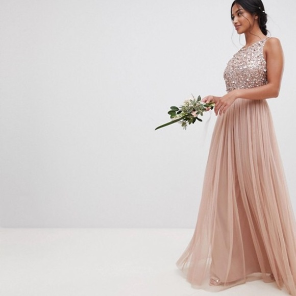 d57bbf2d0566f ASOS Petite Dresses & Skirts - ASOS maya petite sequin tulle maxi sleeveless